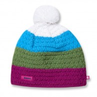 Kama Alpine hat, striped with inside fleece, Pink