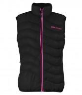 DIEL womens down vest, black/pink