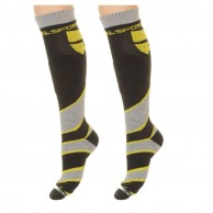 DIEL technical ski socks - 2 pair, yellow