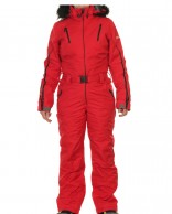 DIEL Ski Spirit womens ski overall, red