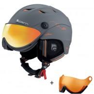 Cairn Spectral Visor Magnet Ium, ski helmet with Visor, dark grey