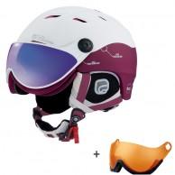 Cairn Spectral Visor Magnet Ium, ski helmet with Visor, white/red