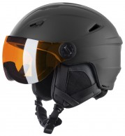 Relax Stealth, ski helmet with Visor, black