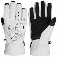 Kilpi Bernina womens ski gloves, white