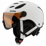 Alpina Jump JV ski helmet with visor, Matte White