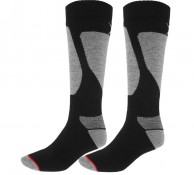 4F Mens Ski Socks, 2-pair, black/grey