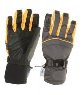 DIEL Ultra mens ski gloves, grey/yellow