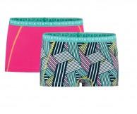 Kari Traa Attraktiv Hipster, 2-pack, turquoise/pink