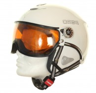 Osbe Proton Sr Snow, ski helmet with Visor, white