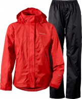 Didriksons Main Girls Set, Rain Suit, red
