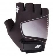 4F mens cycling gloves, cheap, gray