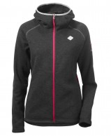 Didriksons Cimi womens fleece jacket, black