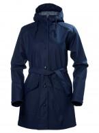 Helly Hansen W Kirkwall Womens Rain Jacket, dark blue