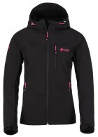 Kilpi Elia, womens soft shell jacket, black/red