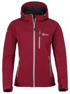Kilpi Elia, womens soft shell jacket, dark red