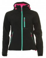 Typhoon Ludo, womens soft shell jacket, black