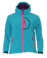 Typhoon Ludo JR, girls soft shell jacket, turquoise