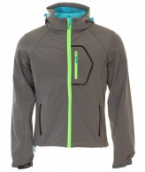 Typhoon Poker, mens soft shell jacket, gray