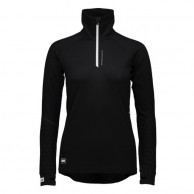 Mons Royale Checklist Hood LS, base layer, Black Birdseye