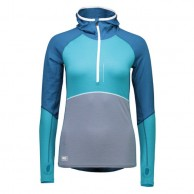 Mons Royale Checklist Hood LS, base layer, Blue Steel Aqua