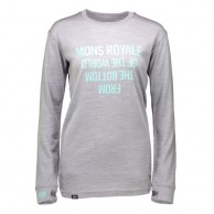 Mons Royale Boyfriend LS, base layer, Grey Marl
