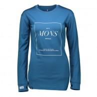 Mons Royale Boyfriend LS, base layer, Blue Steel