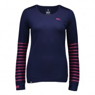 Mons Royale Original LS, base layer, women,  Navy