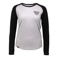 Mons Royale Rocker Raglan LS, base layer, Birdseye Grey Marl