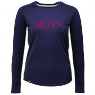Mons Royale Rocker Raglan LS, base layer, Navy