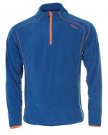 Typhoon St. Moritz mens fleece underwear shirt, blue