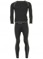 Typhoon Wool mens ski underwear, black
