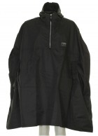 Typhoon Poncho, Unisex Rain Cape, black