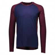 Mons Royale Temple Tech LS, base layer, Navy Burgundy