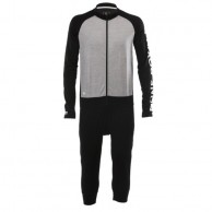 Mons Royale Supermons One Piece, base layer, Black Grey Marl