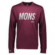 Mons Royale Original LS, base layer, Burgundy