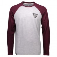 Mons Royale Coreshot Raglan LS, base layer, Burgundy