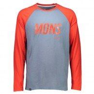Mons Royale Coreshot Raglan LS, base layer, Lead Flame