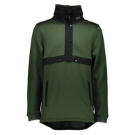 Mons Royale Transition Pullover, mid layer, Forest Green