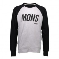 Mons Royale Covert Tech Sweat, mid layer, Grey Marl