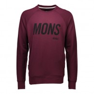 Mons Royale Covert Tech Sweat, mid layer, Burgundy