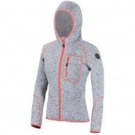 Cairn Roselend W, fleece jacket, women, Polar Grey/Coral
