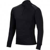 Cairn Comfort Zip 180 M, base layer, men, Black Chiné