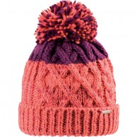 Cairn Eleonore beanie, women, Coral Cranberry
