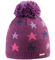 Cairn Louise beanie, junior, Cranberry Stars