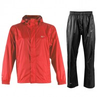 2117 of Sweden Vara, mens Rain Set, red
