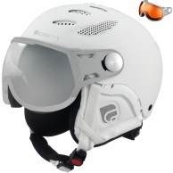 Cairn Cosmos, ski helmet with Visor, Total White