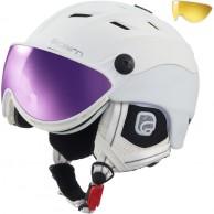 Cairn Spectral Magnet Ium, ski helmet with Visor, White Techno