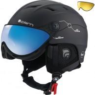 Cairn Spectral Magnet Ium, ski helmet with Visor, Black Techno
