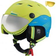 Cairn Spectral Visor Magnet, ski helmet with Visor, lemon/blue