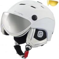 Cairn Spectral Magnet, ski helmet with Visor, White Techno